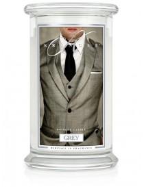 Grey Giara Grande Kringle Candle