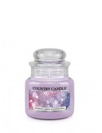 Snowflakes Glistening Giara Piccola Country Candle