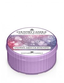 Snowflakes Glistening DayLight Country Candle