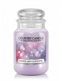 Snowflakes Glistening Giara Grande Country Candle