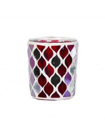 Porta Votivo e Tealight Linea Mosaico Rosso