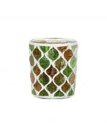 Porta Votivo e Tealight Linea Mosaico Legno