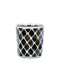 Porta Votivo e Tealight Linea Mosaico Blu